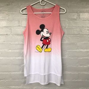 Disney mickey ombre tank top size L